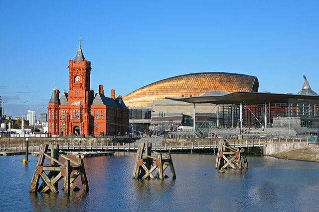 Cardiff Docks Scene by Tazzymoto (via Shutterstock).
