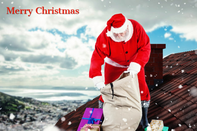 Merry Christmas roof image by Vector Fusion Art (via Shutterstock).