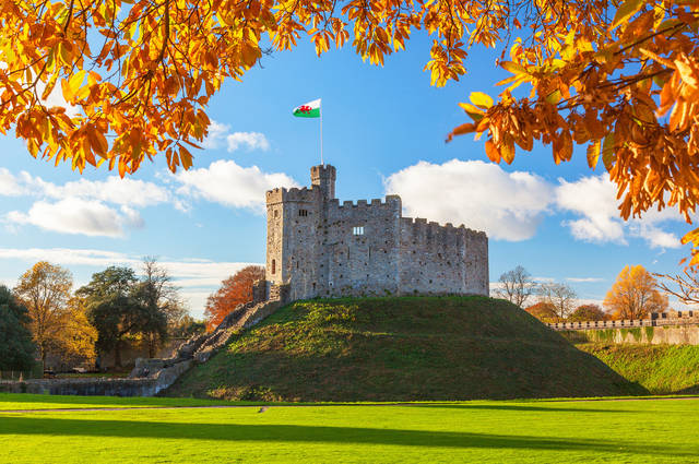Cardiff Castle roof repairs image by Billy Stock (via Shutterstock).